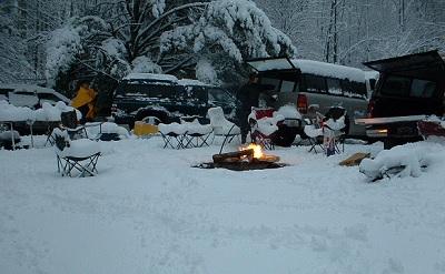 April Camping in the Hiawatha
